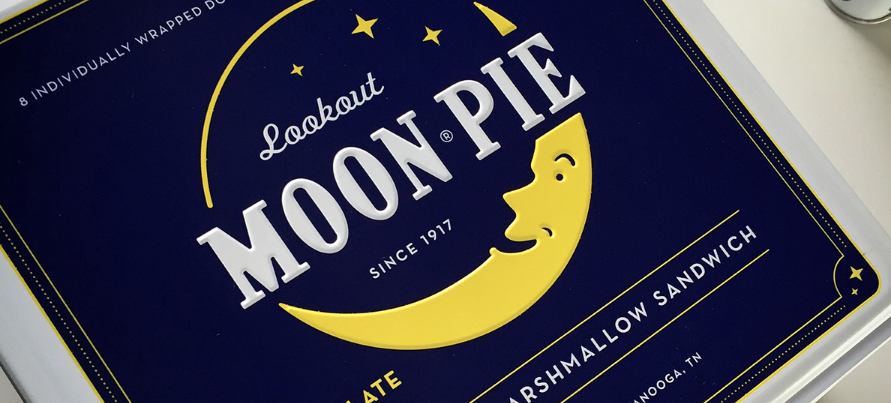 Moon Pie Print Design Packaging