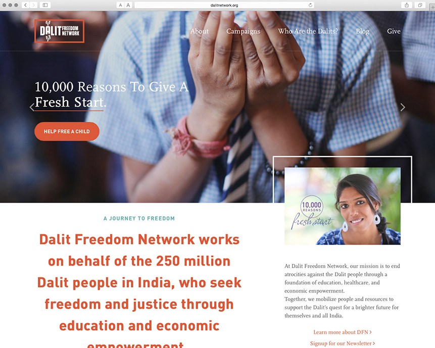 Dalit Freedom Network Website Design