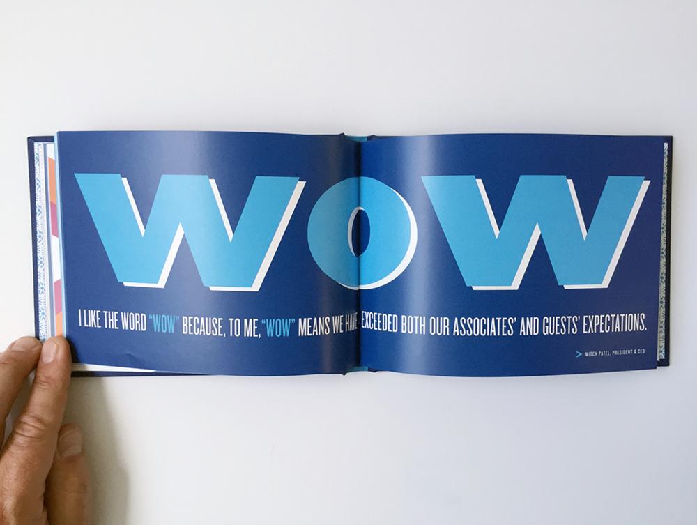 Print details of typographic design book