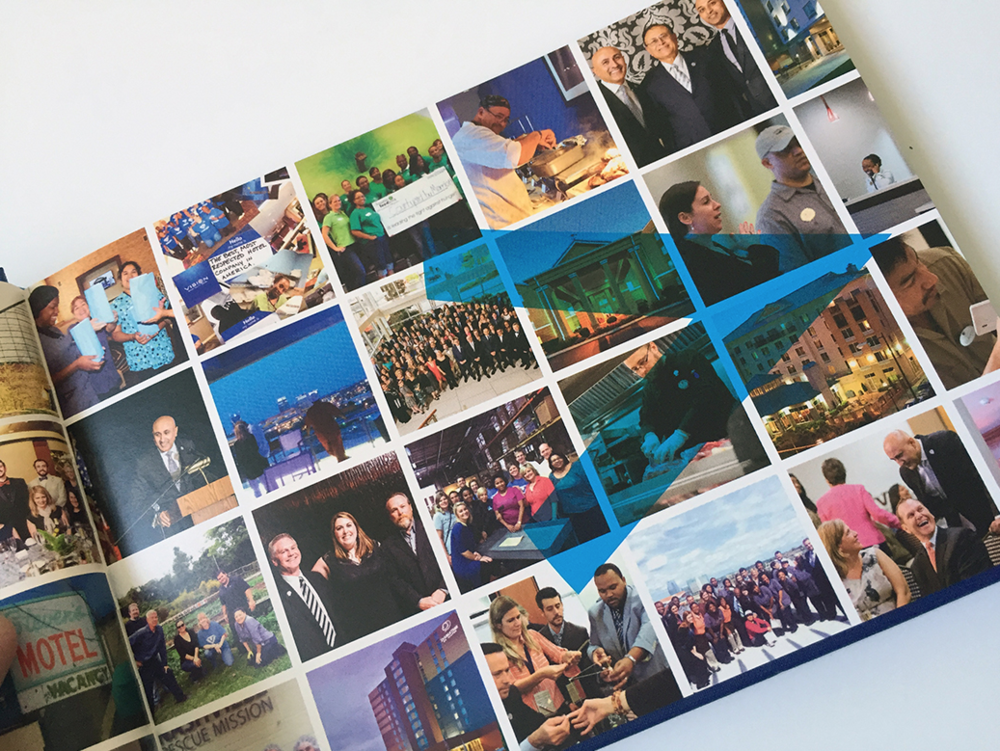 Vision Hospitality brand image layout spread