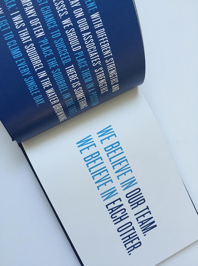 Typographic design layout