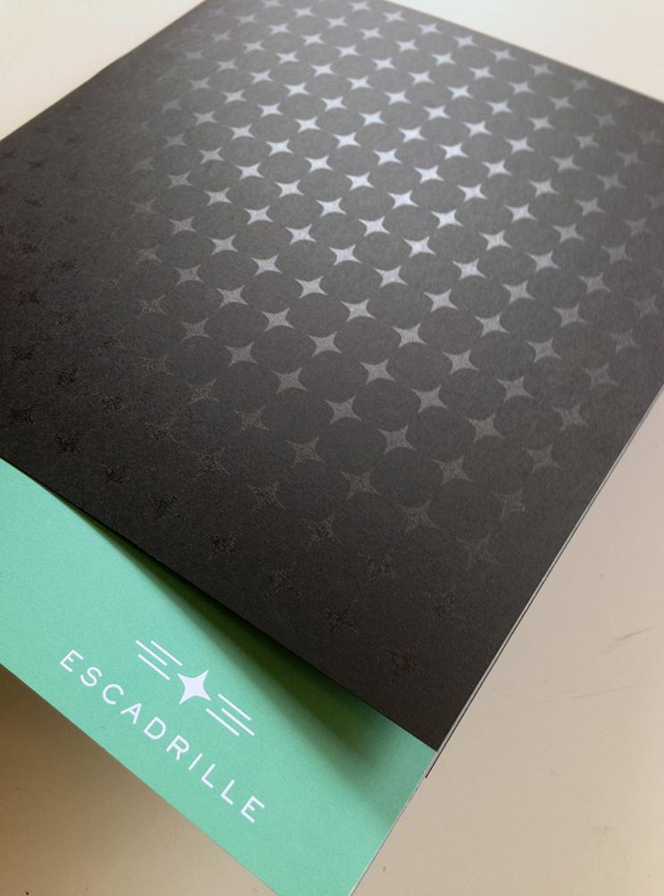 Escadrille brand printing details