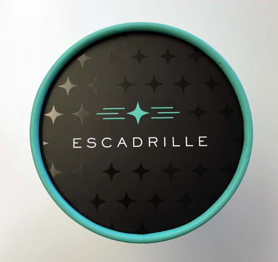 Escadrille package design typography