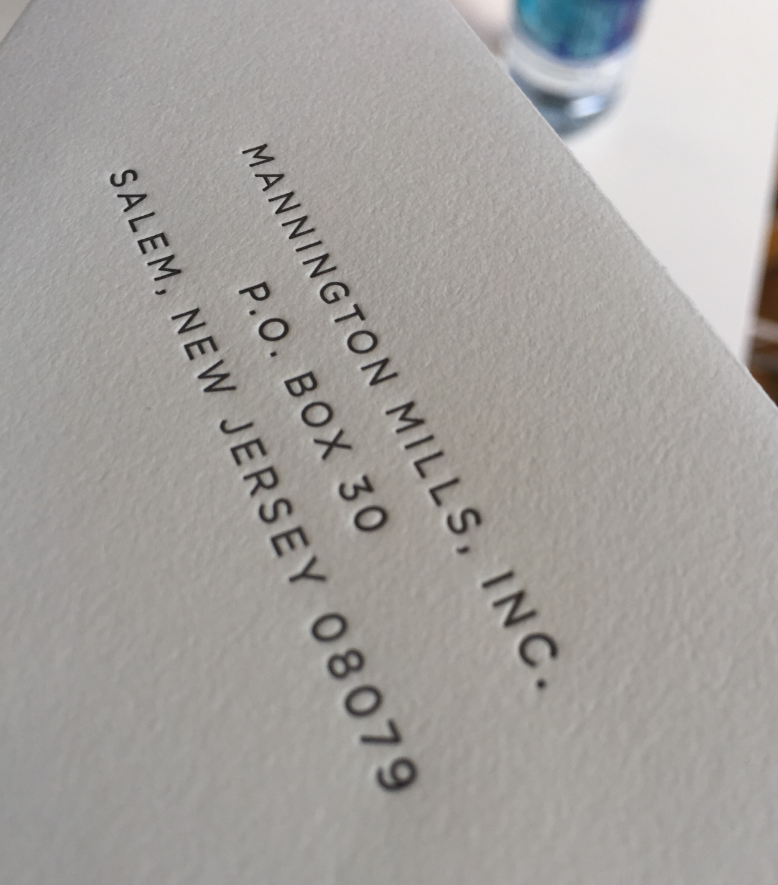 Typographic designed letterpress invitation