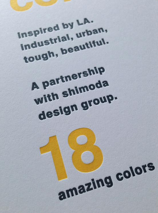 Letterpress typographic design