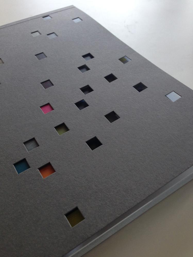 Die-cut Designed book catalog cover