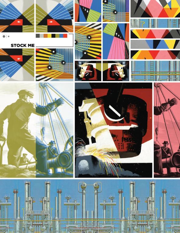 Print design posters Wonder Press Brand image strategy