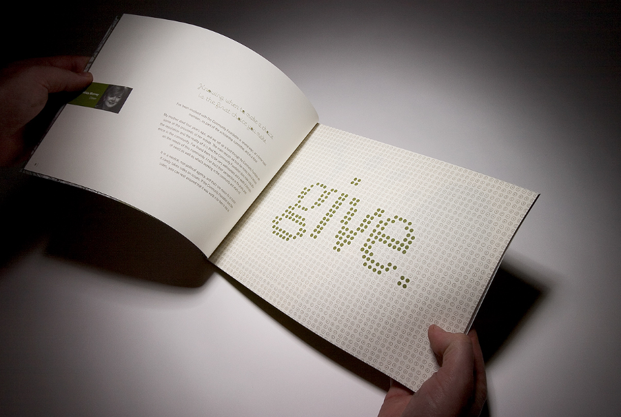 Annual report publication graphic design layout typography
