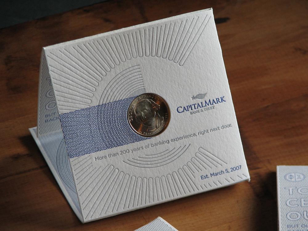 Letterpress stamping invitation illustration design brand application