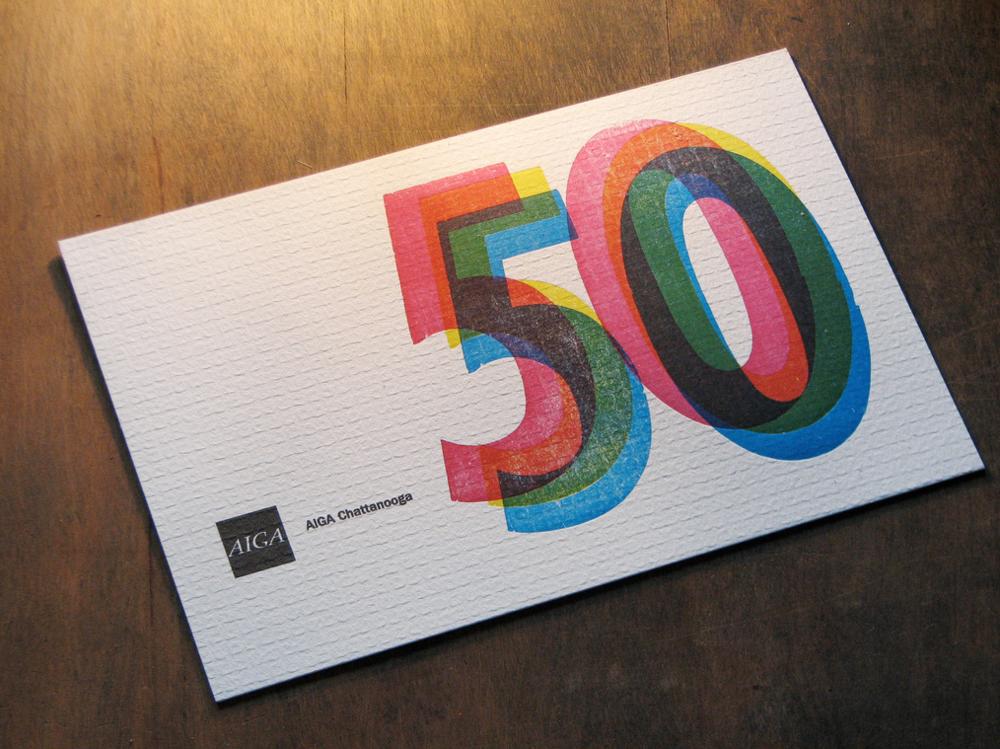 AIGA Chattanooga typographic design letterpress invitations