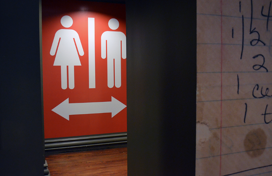 iconographic bathroom sign