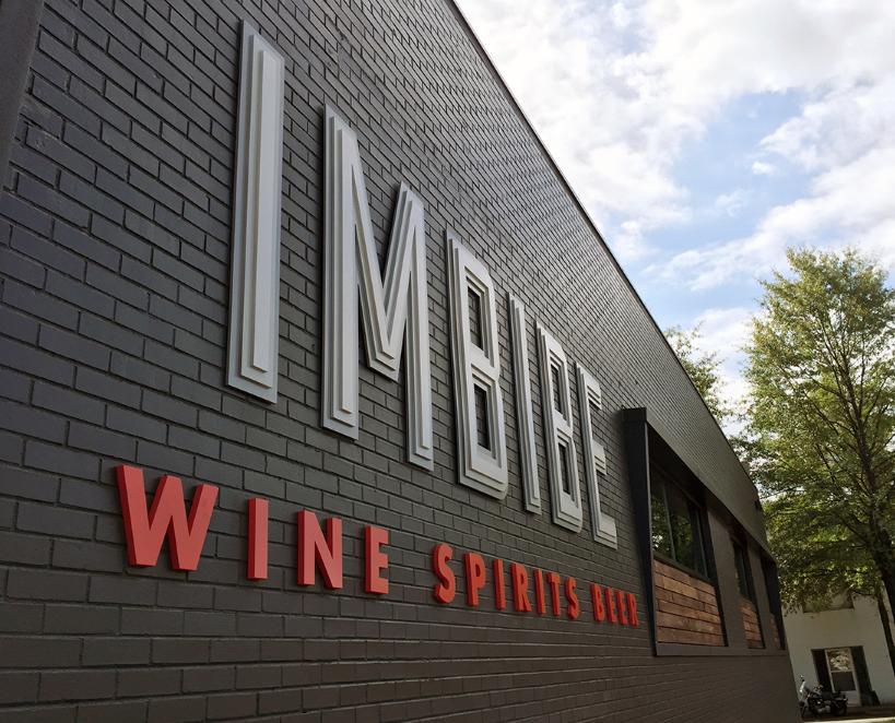Imbibe Storefront Exterior Logo Environmental Design