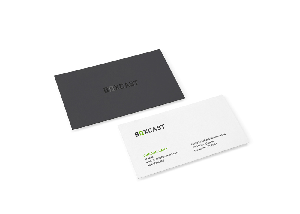 Boxcast - Graphic Design for Branded Business Cards