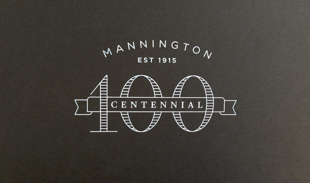 Mannington Commercial Centennial Logo Graphic Design
