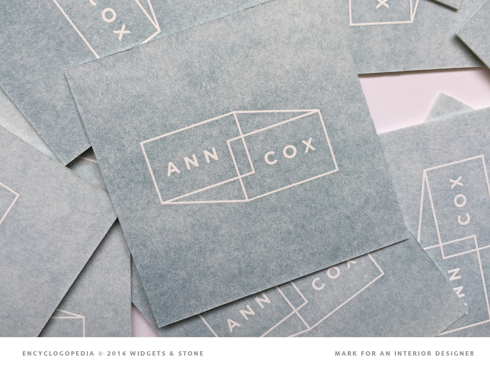 Ann Cox interior design logo application