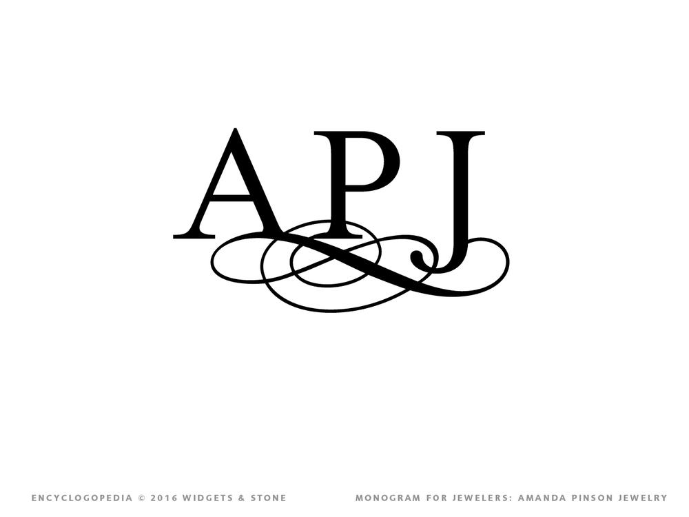 APJ typographic logo design