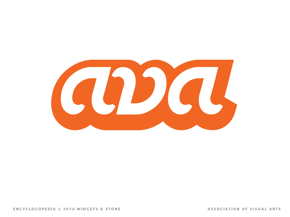 AVA Association of Visual Arts identity and brand strategy