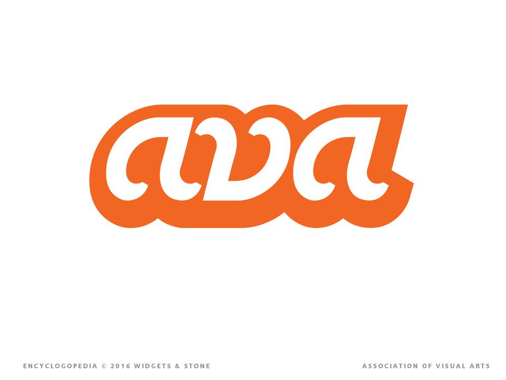 AVA Association of Visual Arts identity and brand strategy