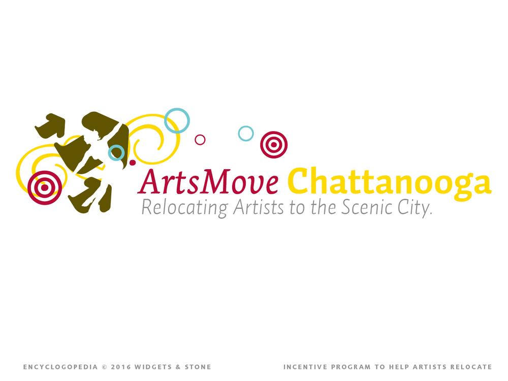 Arts Move Chattanooga logo brand design