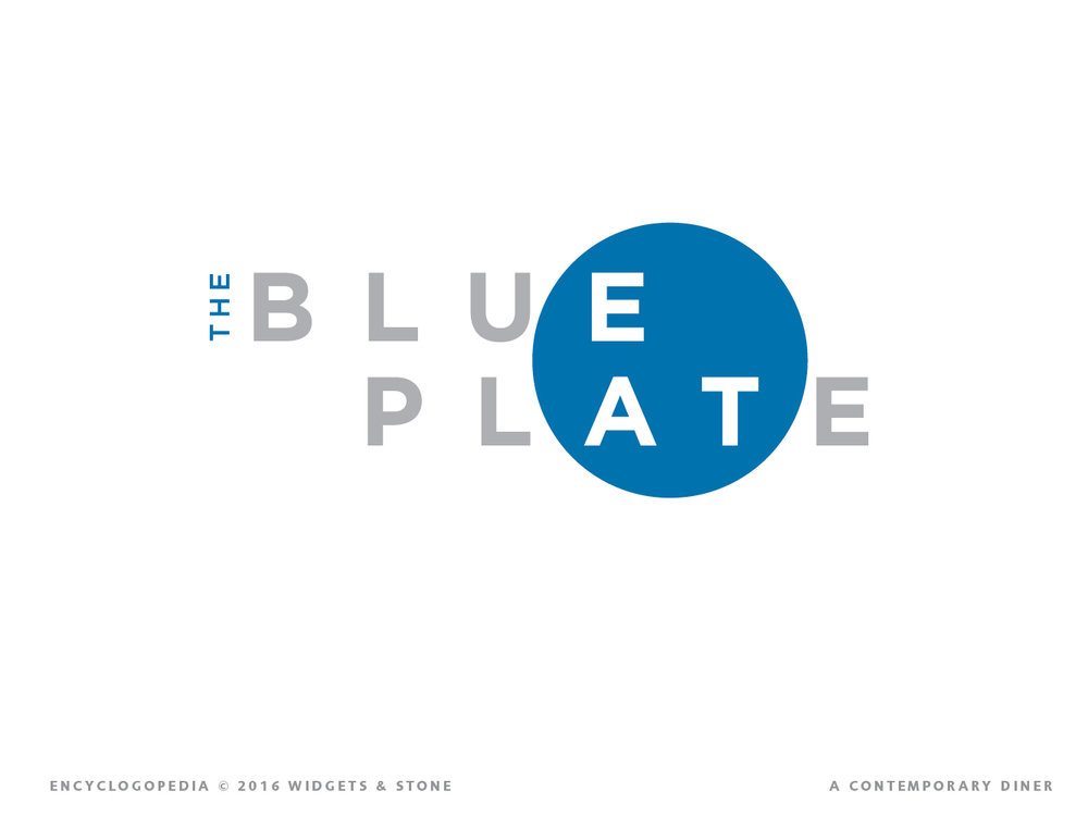 Copy of Blue Plate - Chattanooga, TN - logo design brand