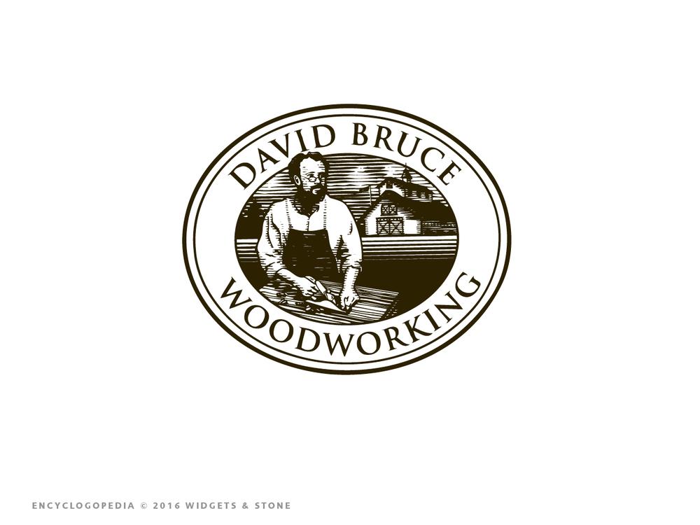 Copy of David Bruce Woodworking designed logo