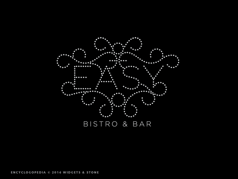 Easy Bistro and Bar (Chattanooga, TN) logo design and brand identity