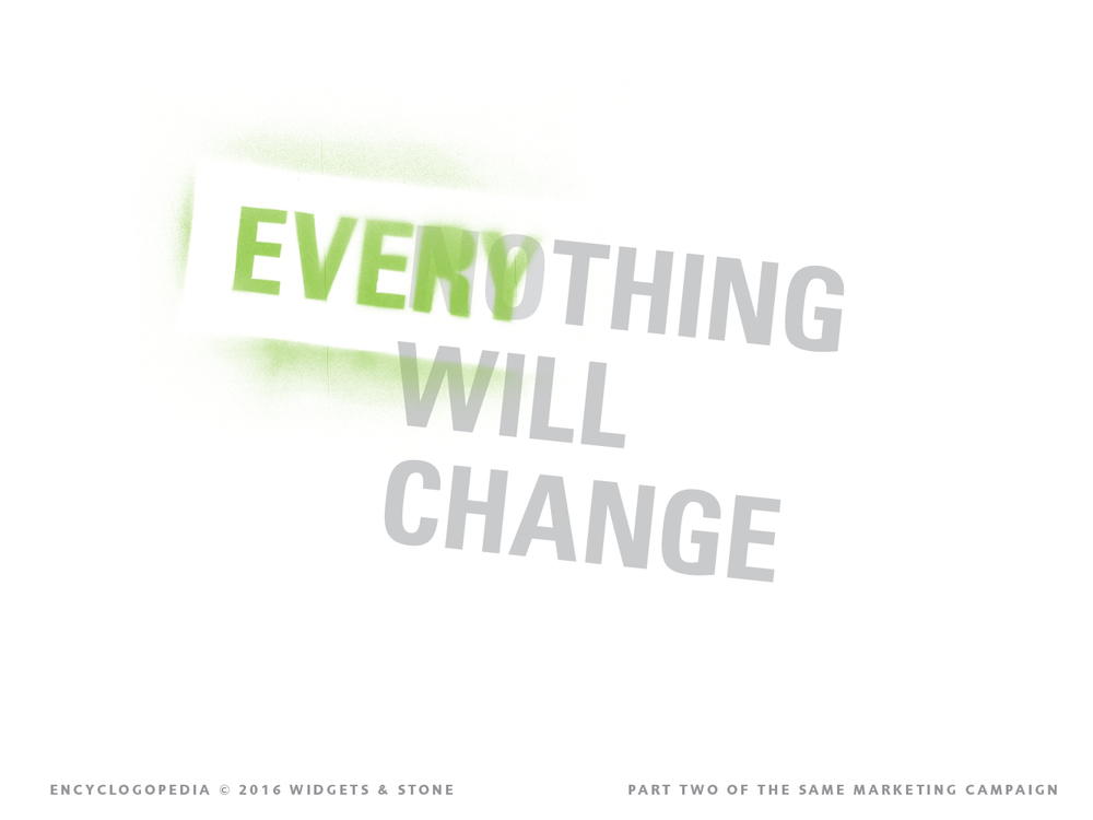 Everything will change logo concept design