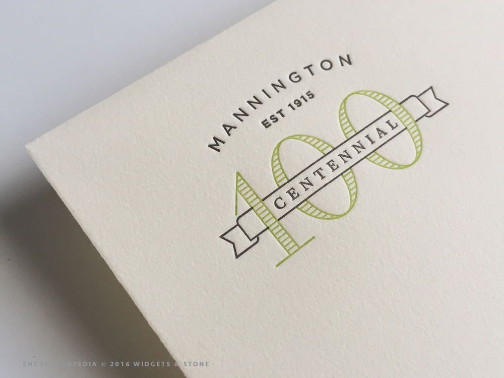 Copy of Mannington Centennial logo application graphic design