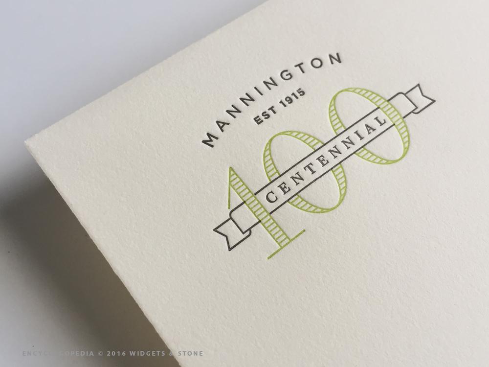 "Copy of Mannington Centennial logo application ""graphic design"""