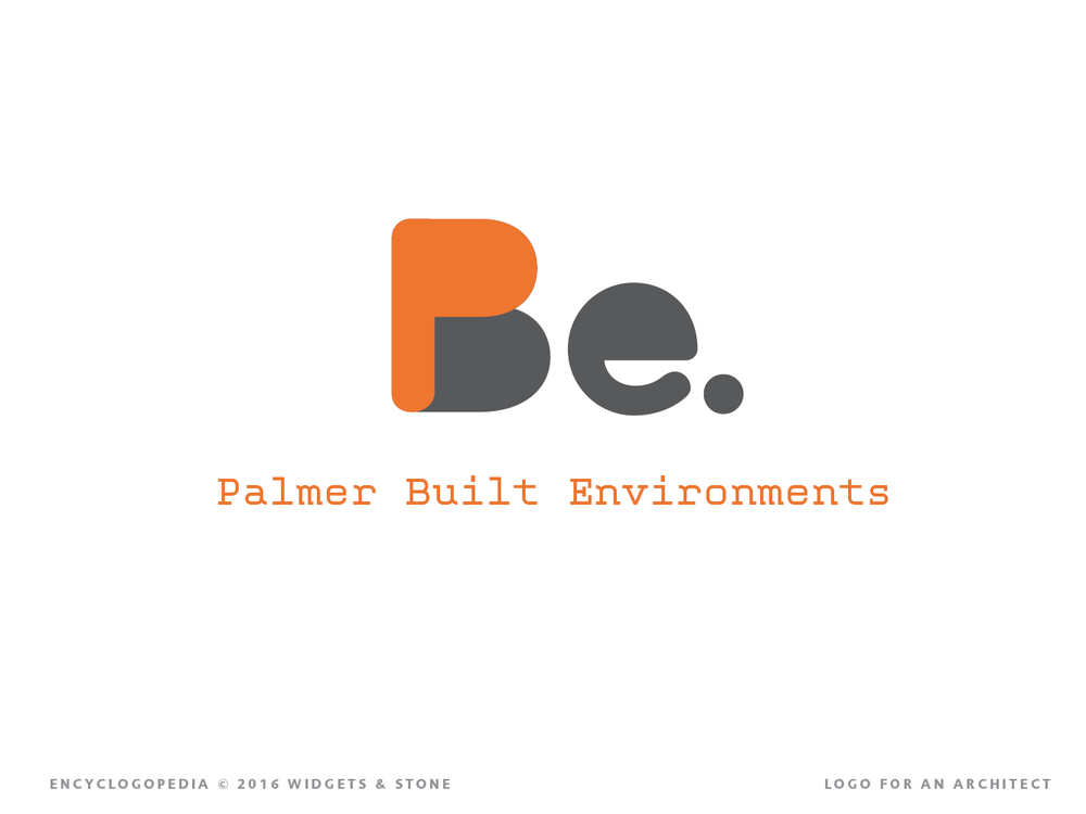 Copy of Palmer Built Environments design logotype brand