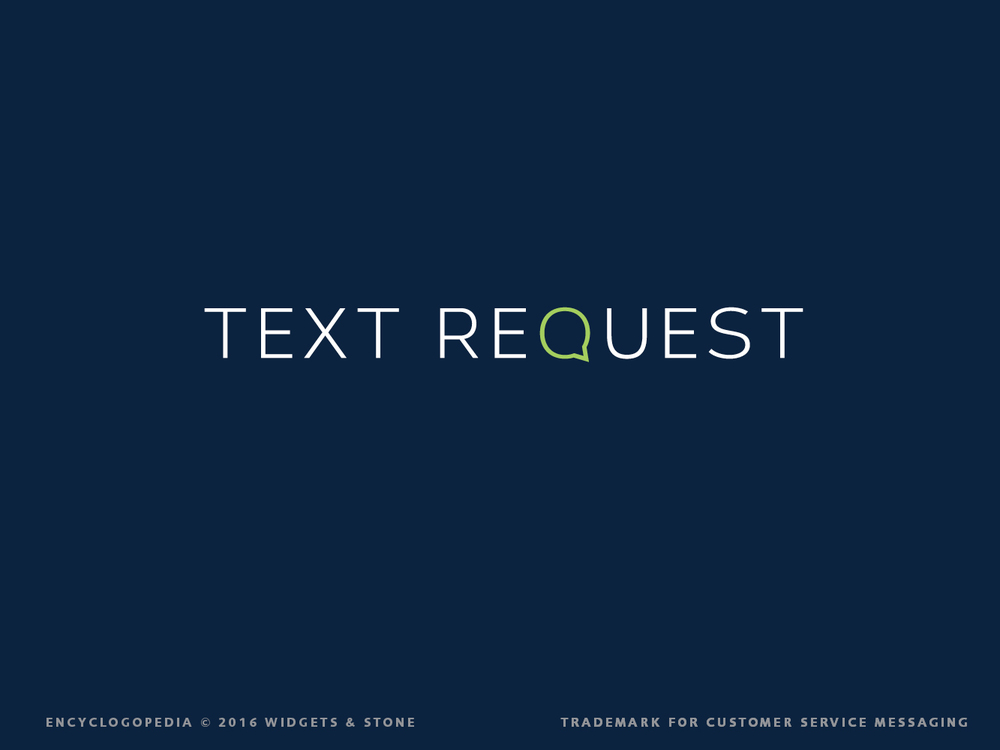 Text Request logotype design