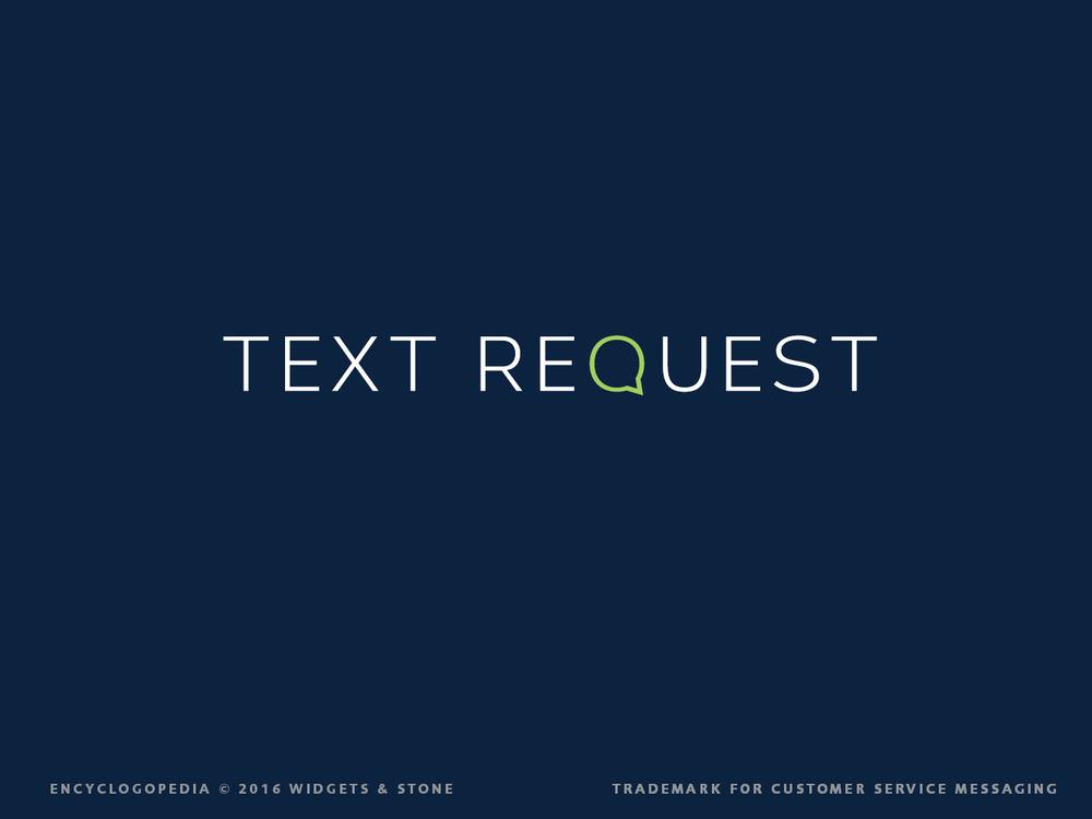 Text Request logotype design