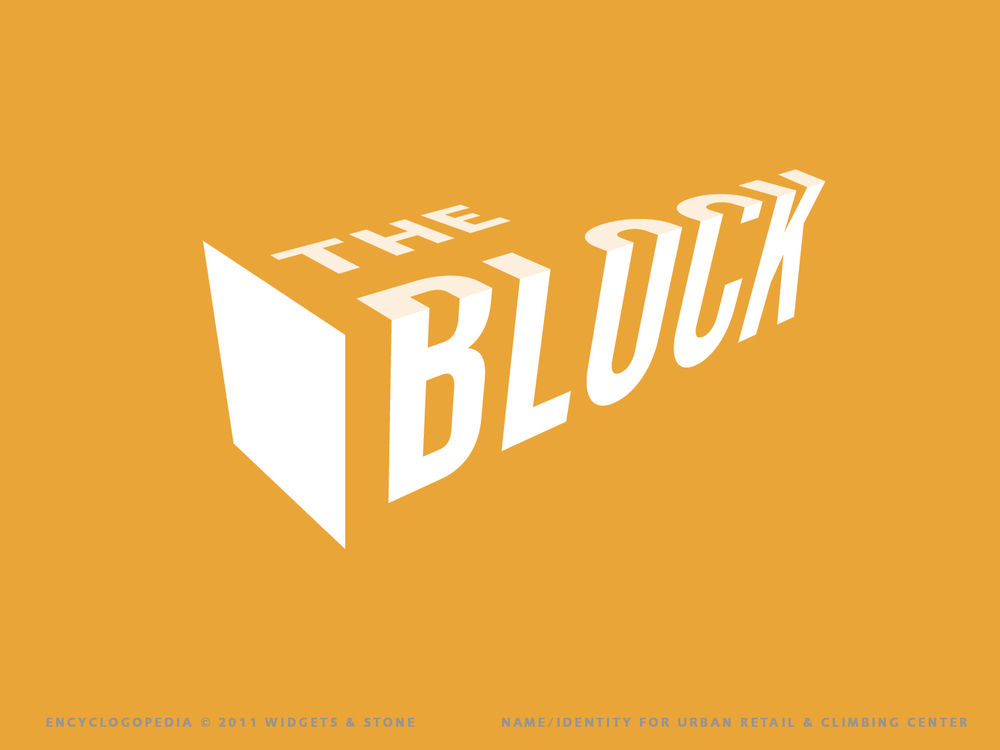 The Block logotype concept design