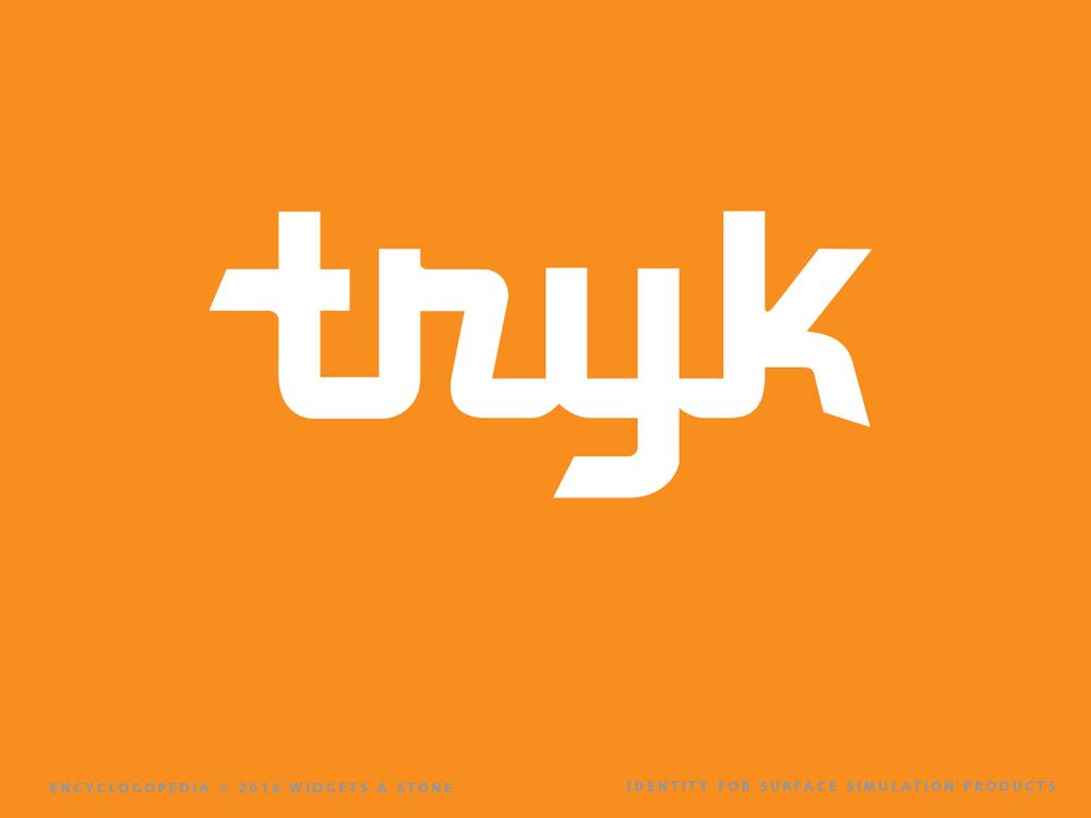 Tryk logo brand