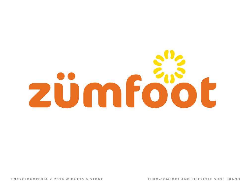 Zumfoot logo mark brand design