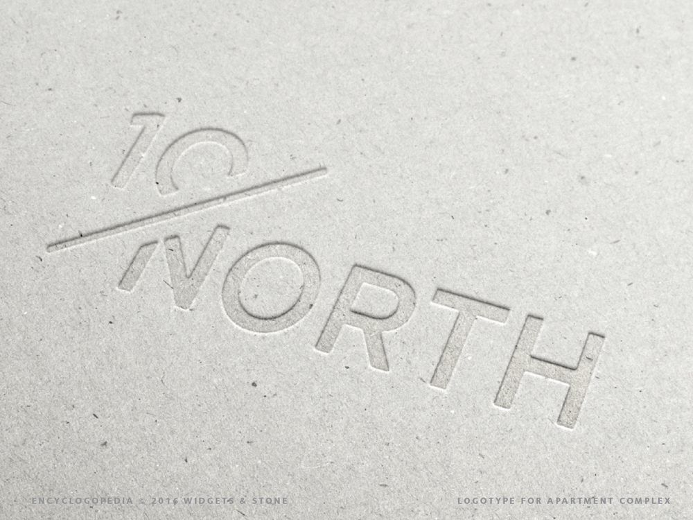 10 North logo design