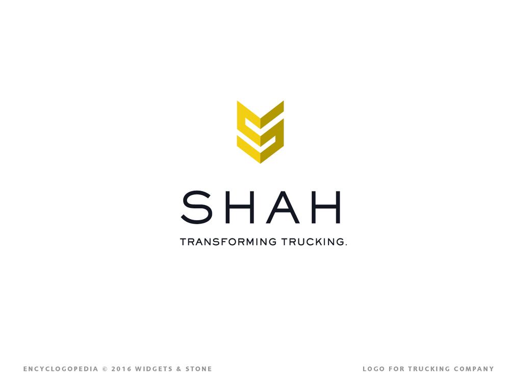 Shah Trucking logo brand concept graphic design