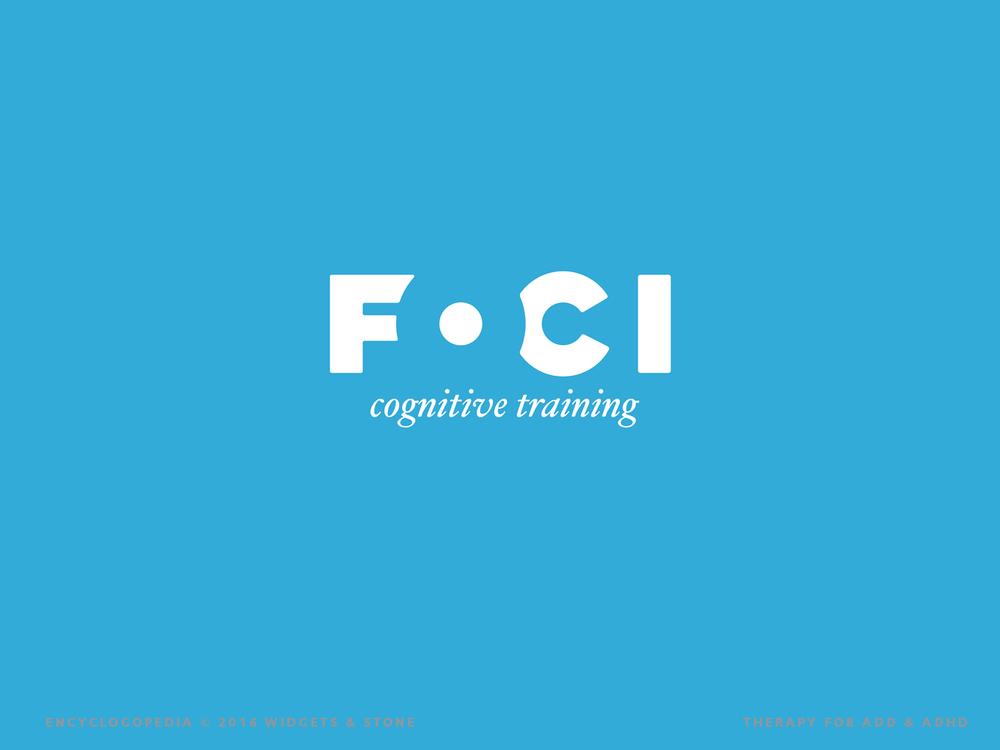 Foci Cognitive Training logo design