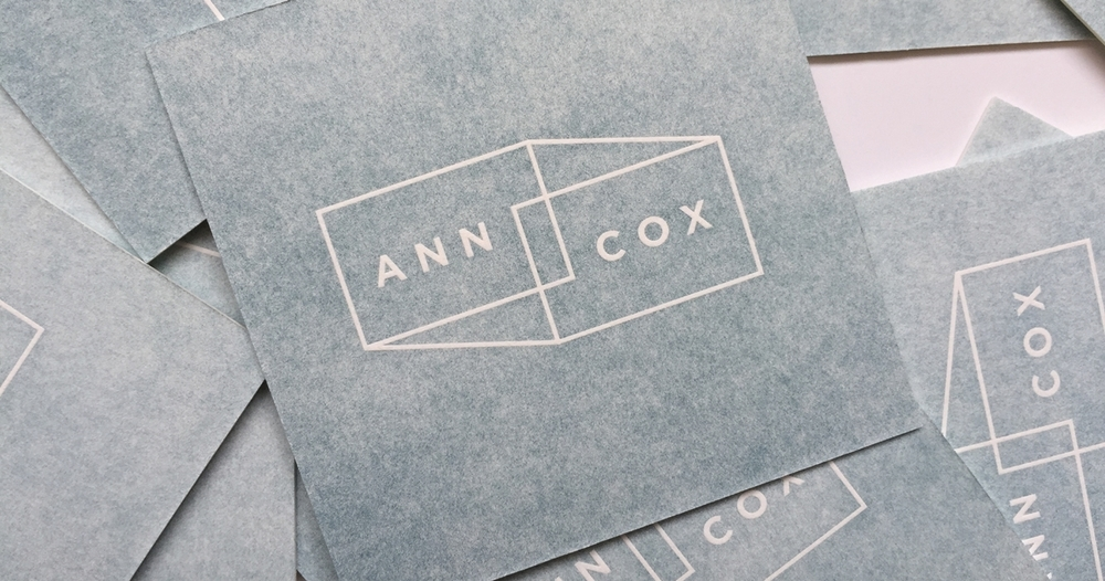 Ann Cox Letterpress Business Card Logo Design
