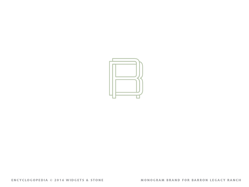 Baron Legacy Ranch  graphic design logo