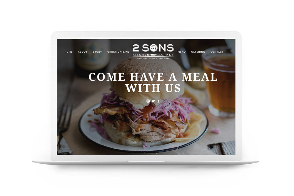 2 Sons Kitchen Market Website Homepage