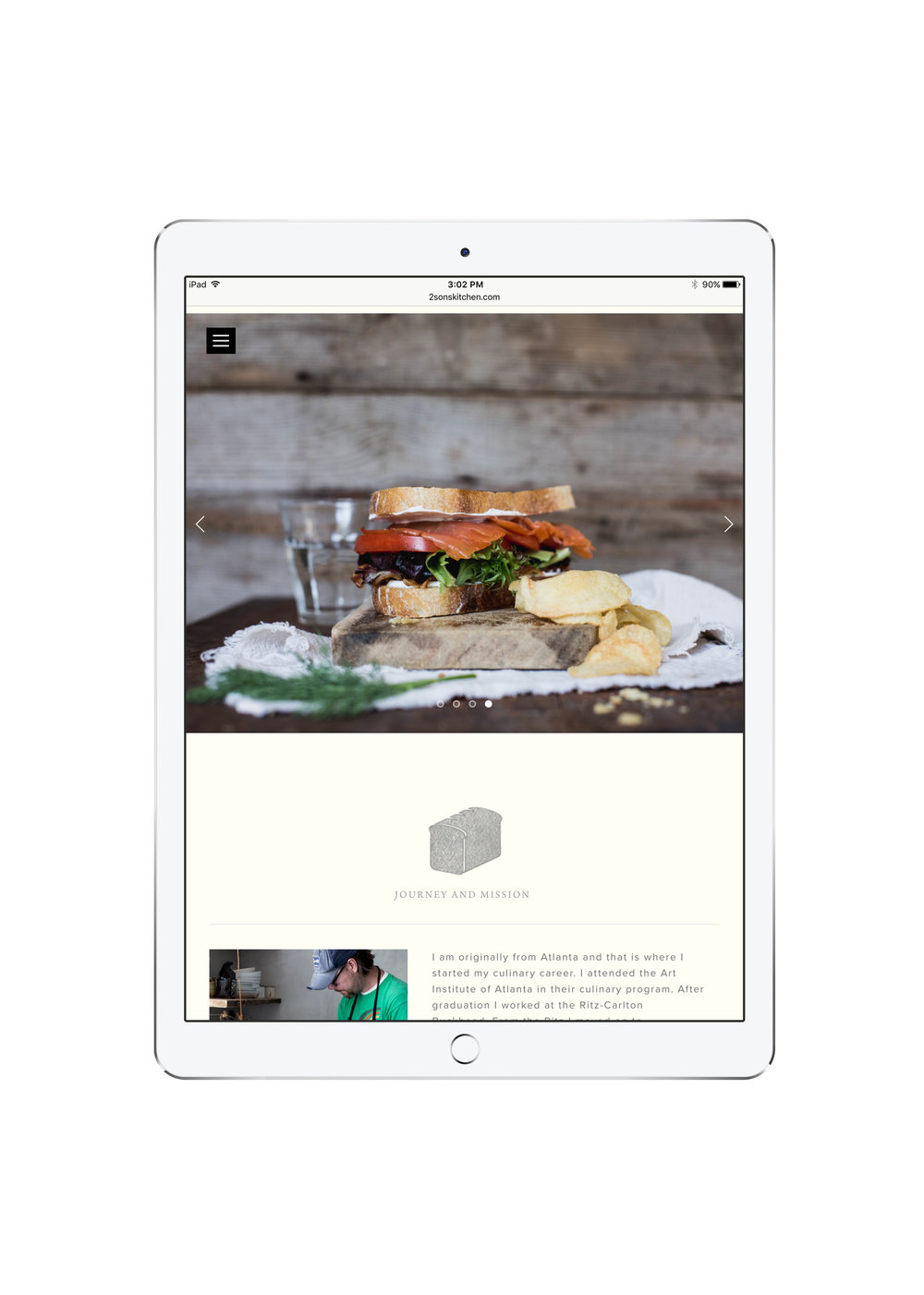 2 Sons Kitchen Market Website Responsive Tablet Mobile