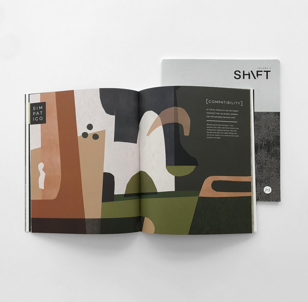Shift Vol. 3 J+J Flooring spread images publication layout