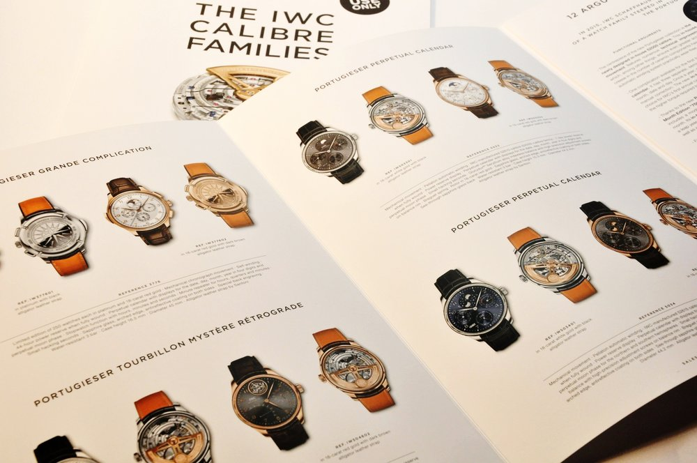 IWC Schaffhausen, Collection Catalog, Print Production