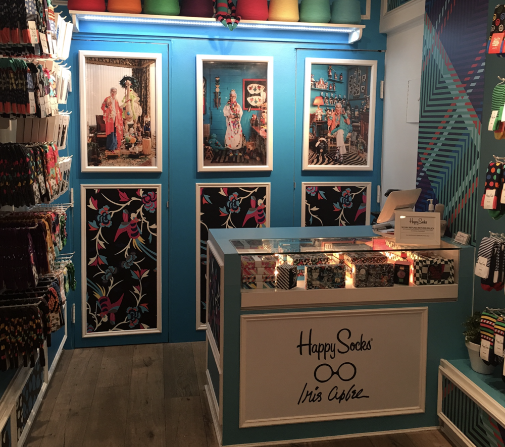Happy Socks x Iris Apfel Collaboration, Experiential Branding, Production,  Installation