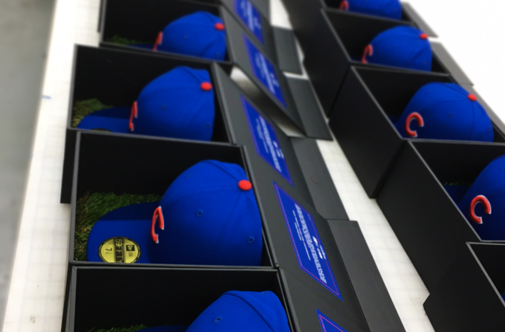 Lids Custom World Series Hat Boxes, Production