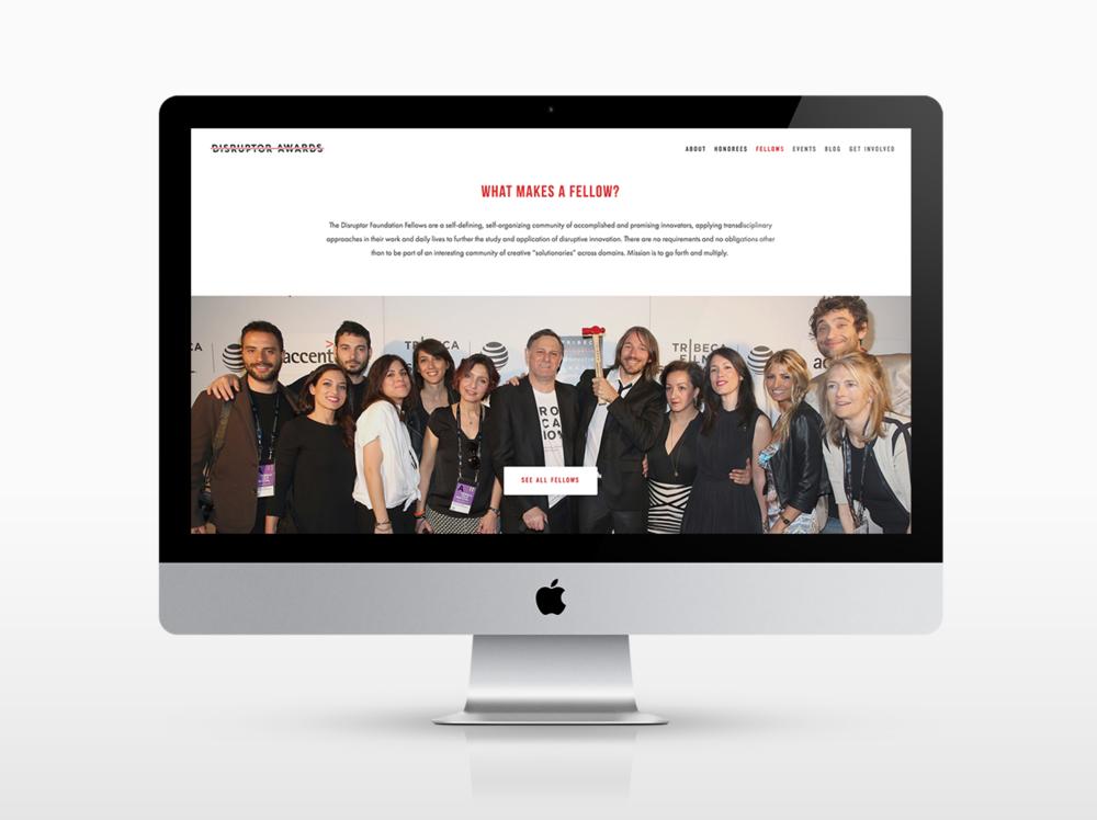 Tribeca Disruptor Awards / Web Design
