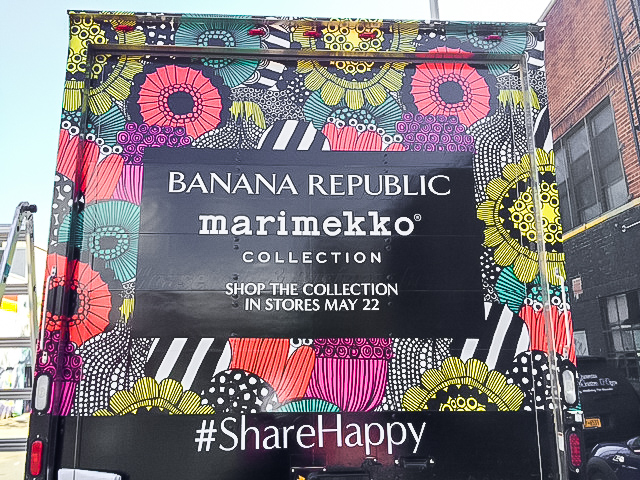Banana Republic Marimekko Collection Truck