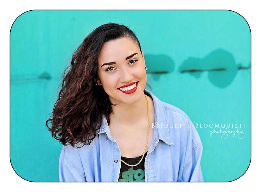 bright color in senior photos