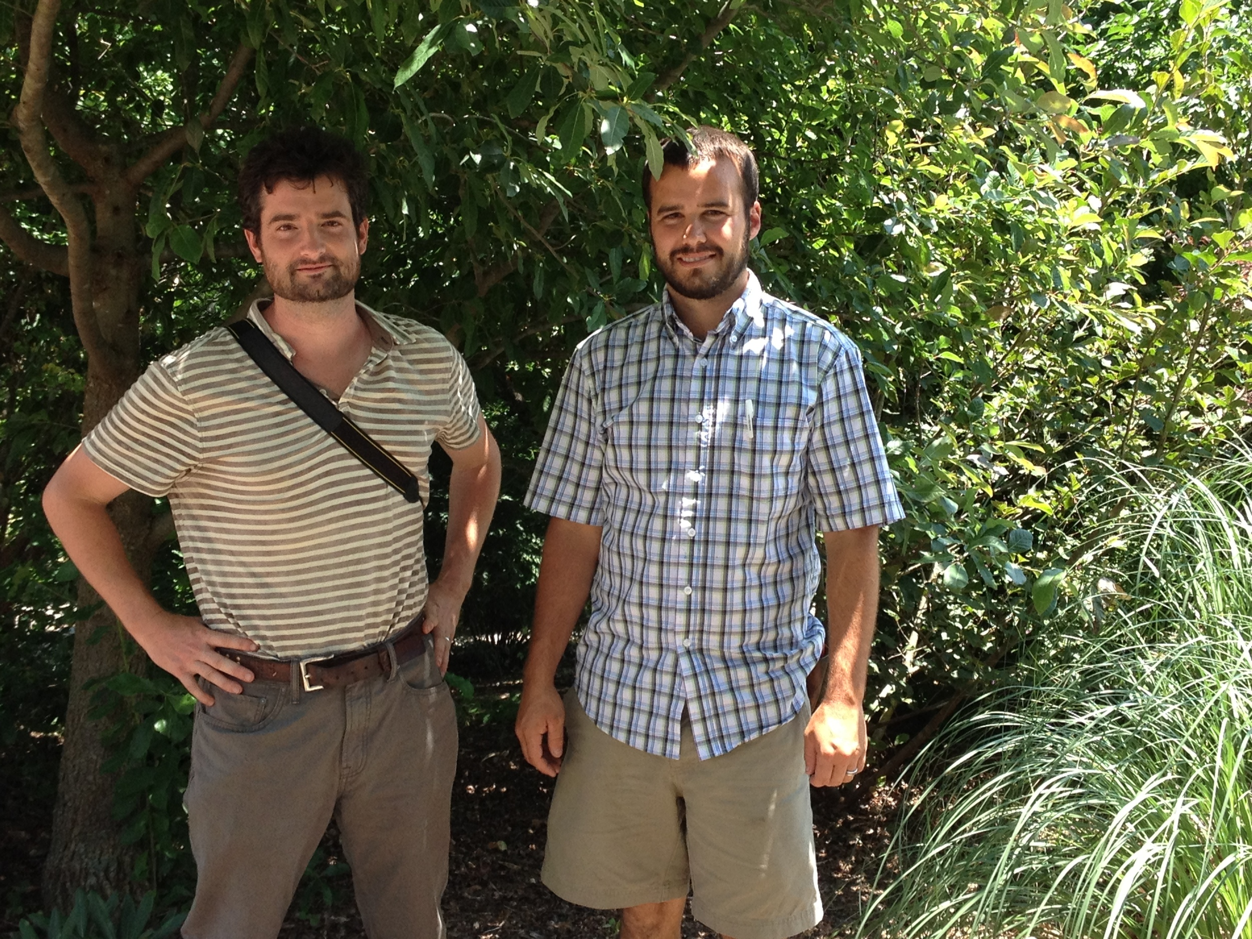 Ethan Kauffman and Erik Healy from Moore Farms Botanical Garden.